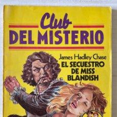Tebeos: CLUB DEL MISTERIO #7 - EL SECUESTRO DE MISS BLANDISH - BRUGUERA. Lote 279553713