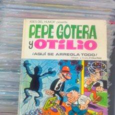 Giornalini: PEPE GOTERA Y OTILIO. ¡AQUÍ SE ARREGLA TODO! (BRUGUERA, ASES DEL HUMOR 23, 1973). TAPAS DURAS. Lote 280555188