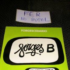 Tebeos: FORGESCEDARIO BRUGUERA 1979 LETRA B. Lote 282079313