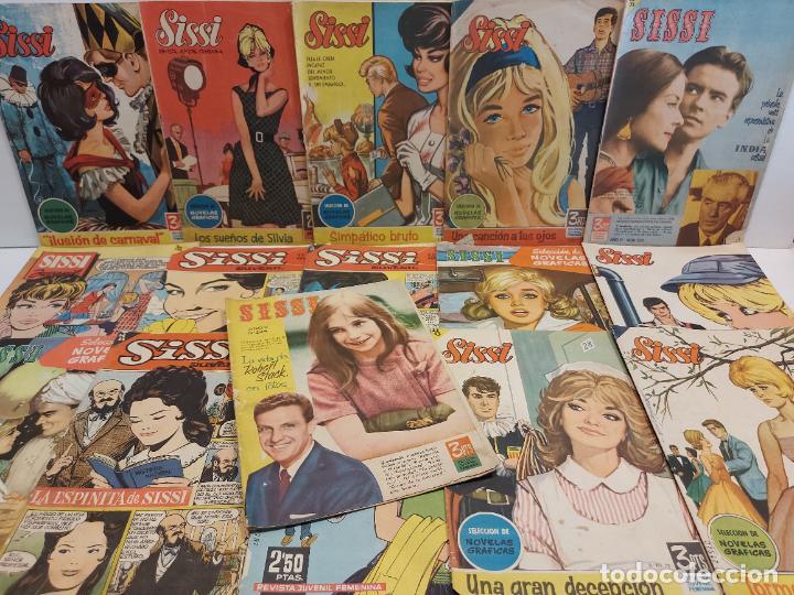 LOTE SISSI / REVISTA JUVENIL FEMENINA / NOVELAS GRÁFICAS / CONJUNTO DE 16 EJEMPLARES / VER LAS FOTOS (Tebeos y Comics - Bruguera - Sissi)