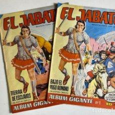 BDs: EL JABATO - ÁLBUM GIGANTE - Nº1 BAJO EL YUGO ROMANO, Nº 2 TIERRA DE ESCLAVOS - ED BRUGUERA - AÑOS 60. Lote 284717613