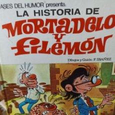 Livros de Banda Desenhada: MORTADELO Y FILEMON. LA HISTORIA DE MORTADELO. ASES DEL HUMOR. N. 10. Lote 285265038