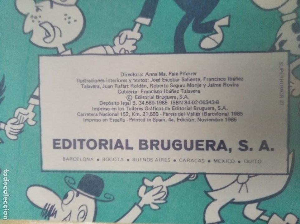 Tebeos: SUPER HUMOR VOLUMEN: XXVII - BRUGUERA. - Foto 3 - 285361653