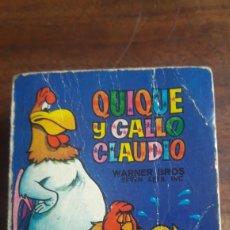 Tebeos: MINI INFANCIA BRUGUERA PRIMERA EDICIÓN 1968, NUM 11, QUIQUE Y EL GALLO CLAUDIO. Lote 285408608
