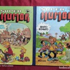 Tebeos: SUPER HUMOR. BENITO BONIATO. COLECCION COMPLETA. DOS TOMOS 1 Y 2. 1ª EDICION. BRUGUERA.. Lote 285800383