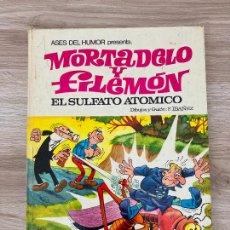BDs: ASES DEL HUMOR MORTADELO Y FILEMON Nº 1. EL SULFATO ATOMICO. BRUGUERA 1ª EDICION 1969. Lote 286266063