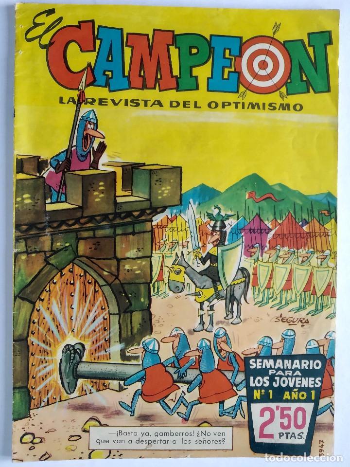Tebeos: El Campeón de las Historietas 1 (1960) - Primero de la colección - Con El Jabato - Excelente estado - Foto 2 - 286811458