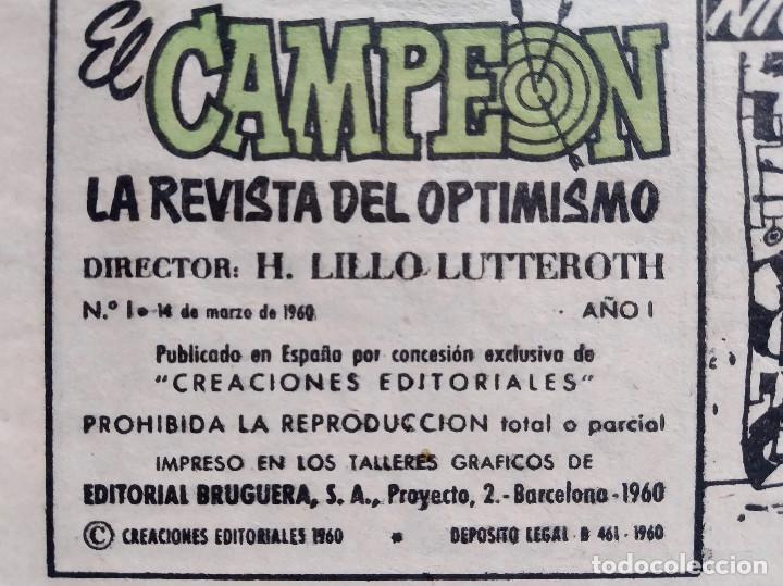 Tebeos: El Campeón de las Historietas 1 (1960) - Primero de la colección - Con El Jabato - Excelente estado - Foto 3 - 286811458
