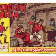 Tebeos: EL SARGENTO FURIA Nº 13 ¡ LAS LEUCÓSPIDES VENENOSAS ! BRUGUERA 1962 - ORIGINAL. Lote 287028768