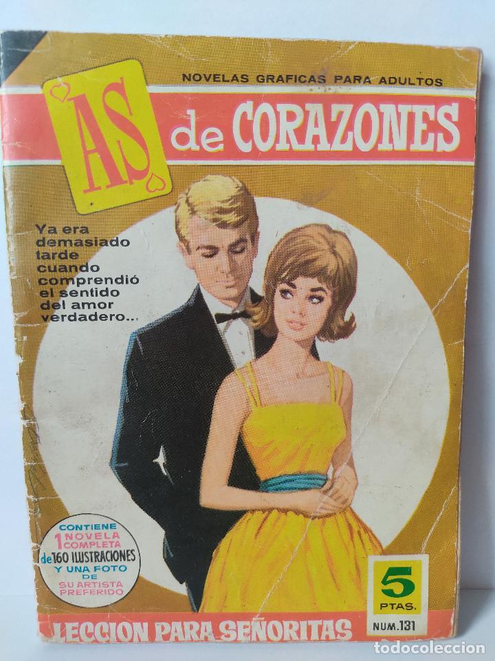 NOVELA AS DE CORAZONES LECCIÓN PARA SEÑORITAS NÚMERO 131 AÑOS 60 (Tebeos y Comics - Bruguera - Cuadernillos Varios)
