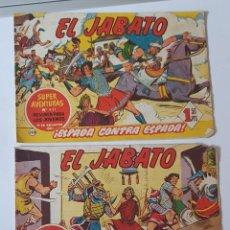 Tebeos: EL JABATO , 2 TEBEOS ORIGINALES , EDITORIAL BRUGUERA. Lote 287221253