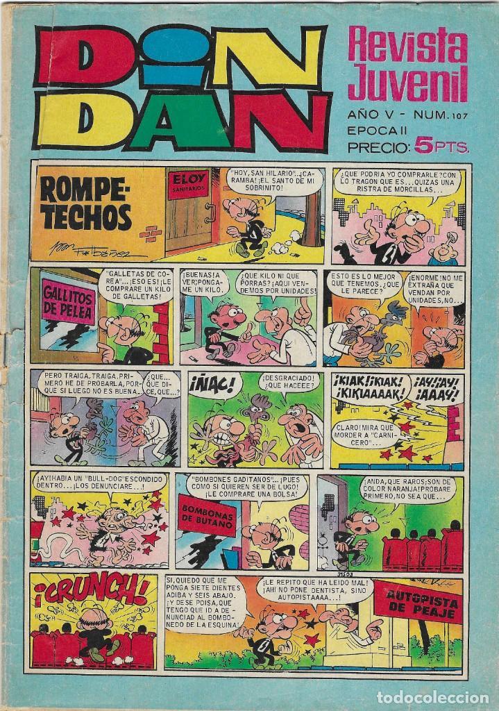 ED. BRUGUERA -- DIN DAN -- Nº 107 (Tebeos y Comics - Bruguera - Din Dan)