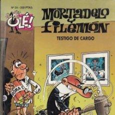 Livros de Banda Desenhada: OLE - EDICIONES B - MORTADELO Y FILEMON - Nº 24 TESTIGO DE CARGO #. Lote 287474493
