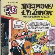 Livros de Banda Desenhada: OLE - EDICIONES B - MORTADELO Y FILEMON - Nº 30 OBJETIVO ELIMINAR A RANA #. Lote 287474613