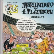 Livros de Banda Desenhada: OLE - EDICIONES B - MORTADELO Y FILEMON - Nº 61 - MUNDIAL 78 #. Lote 287475078