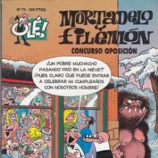 Livros de Banda Desenhada: OLE - EDICIONES B - MORTADELO Y FILEMON - Nº 73 - CONCURSO OPOSICION #. Lote 287475188