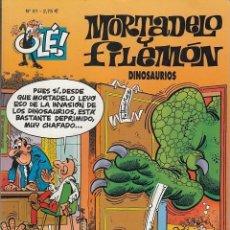 Tebeos: OLE - EDICIONES B - MORTADELO Y FILEMON - Nº 81 - DINOSAURIOS #. Lote 287475273