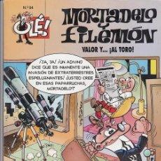 Tebeos: OLE - EDICIONES B - MORTADELO Y FILEMON - Nº 94 VALOR Y AL TORO #. Lote 287475543