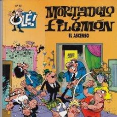 Tebeos: OLE - EDICIONES B - MORTADELO Y FILEMON - Nº 88 - EL ASCENSO #. Lote 287475653