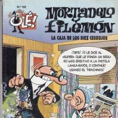 Tebeos: OLE - EDICIONES B - MORTADELO Y FILEMON - Nº 102 LA CAJA DE LOS DIEZ CERROJOS #. Lote 287475743