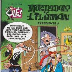 Tebeos: OLE - EDICIONES B - MORTADELO Y FILEMON - Nº 135 EXPEDIENTE J #. Lote 287480608