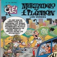 Tebeos: OLE - EDICIONES B - MORTADELO Y FILEMON - Nº 142 LOS VERDES #. Lote 287482013