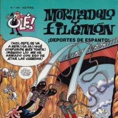 Tebeos: OLE - EDICIONES B - MORTADELO Y FILEMON - Nº 144 DEPORTES DE ESPANTO #. Lote 287482123