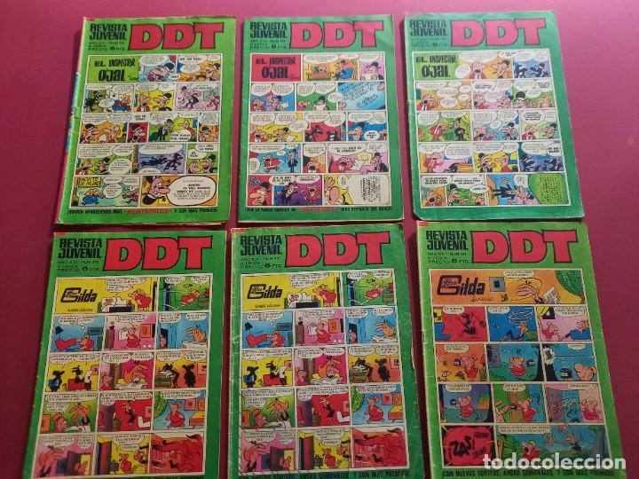 LOTE DE 6 DDT -BRUGUERA-VER NUMERACION (Tebeos y Comics - Bruguera - DDT)