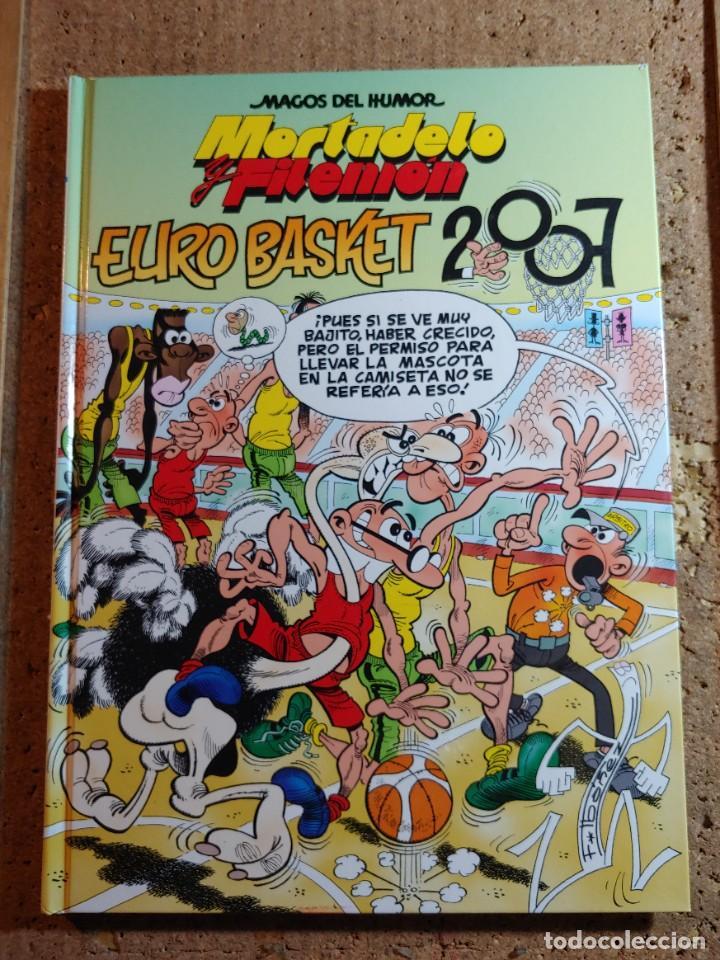 COMIC MAGOS DEL HUMOR MORTADELO Y FILEMON EN EURO BASKET 2007 DEL AÑO 2007 Nº 116 (Tebeos y Comics - Bruguera - Mortadelo)