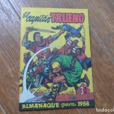 Tebeos: EL CAPITÁN TRUENO - ALMANAQUE PARA 1958 BRUGUERA EDICION FACSIMIL. Lote 287880453