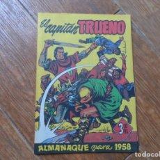 Tebeos: EL CAPITÁN TRUENO - ALMANAQUE PARA 1958 BRUGUERA EDICION FACSIMIL. Lote 287880468