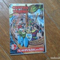 Tebeos: EL CAPITÁN TRUENO - ALMANAQUE PARA 1964 BRUGUERA EDICION FACSIMIL. Lote 287880573
