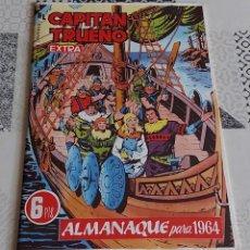 Tebeos: CAPITAN TRUENO EXTRA ALMANAQUE 1964 BRUGUERA REEDICION. Lote 287896688