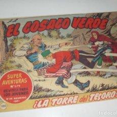 Tebeos: EL COSACO VERDE 100.ORIGINAL,EDITORIAL BRUGUERA,AÑO 1960.. Lote 287982523
