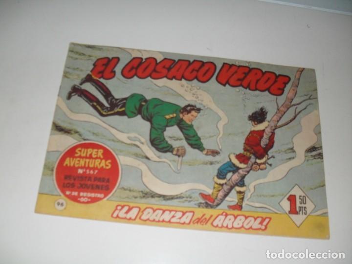 EL COSACO VERDE 96.ORIGINAL,EDITORIAL BRUGUERA,AÑO 1960. (Tebeos y Comics - Bruguera - Cosaco Verde)