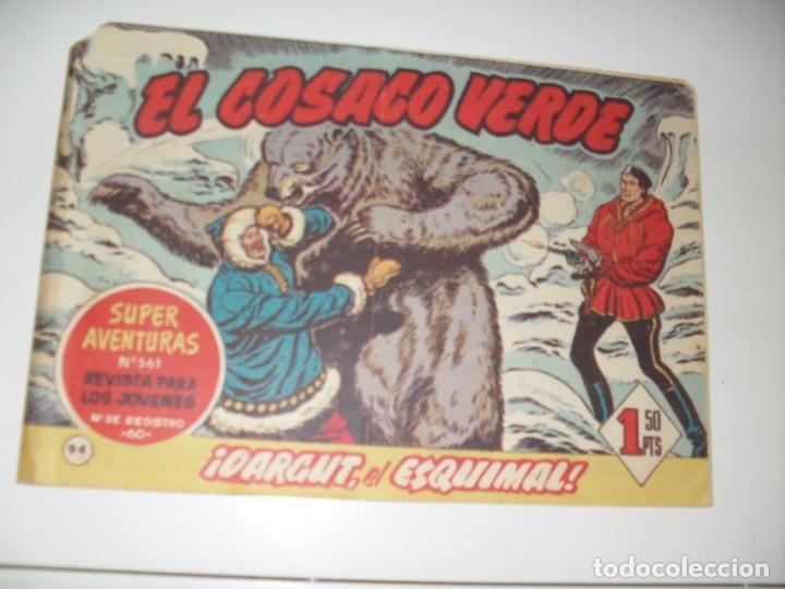 EL COSACO VERDE 94.ORIGINAL,EDITORIAL BRUGUERA,AÑO 1960. (Tebeos y Comics - Bruguera - Cosaco Verde)