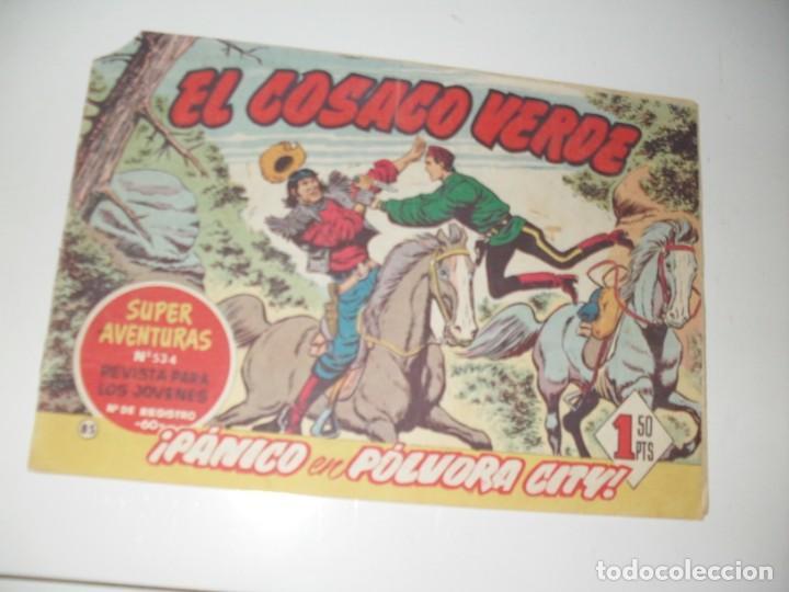 EL COSACO VERDE 85.ORIGINAL,EDITORIAL BRUGUERA,AÑO 1960. (Tebeos y Comics - Bruguera - Cosaco Verde)