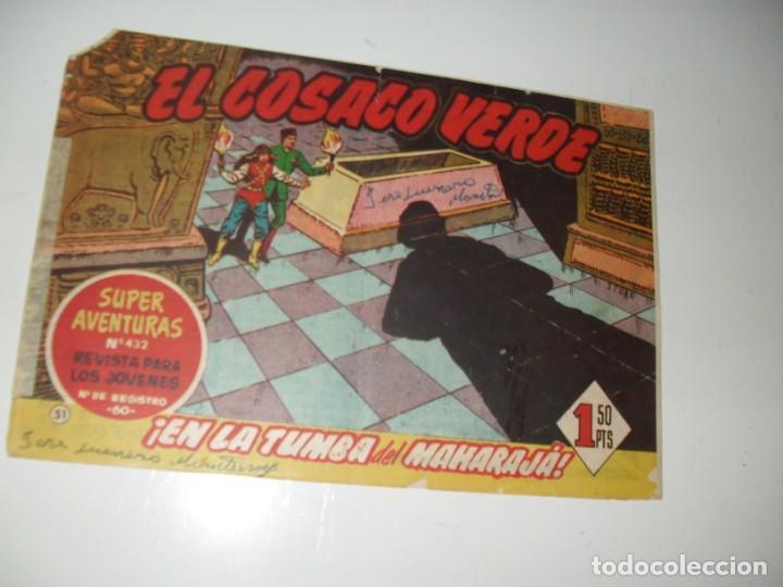EL COSACO VERDE 51.ORIGINAL,EDITORIAL BRUGUERA,AÑO 1960. (Tebeos y Comics - Bruguera - Cosaco Verde)