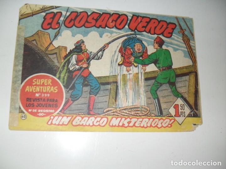 EL COSACO VERDE 40.ORIGINAL,EDITORIAL BRUGUERA,AÑO 1960. (Tebeos y Comics - Bruguera - Cosaco Verde)