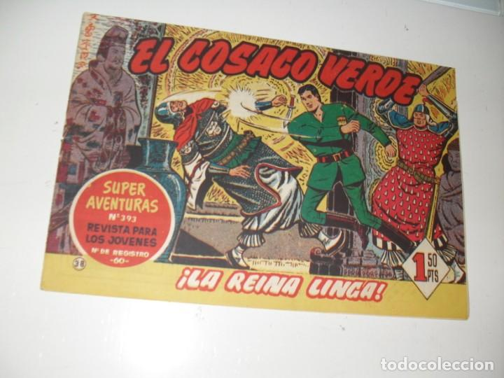 EL COSACO VERDE 38.ORIGINAL,EDITORIAL BRUGUERA,AÑO 1960. (Tebeos y Comics - Bruguera - Cosaco Verde)