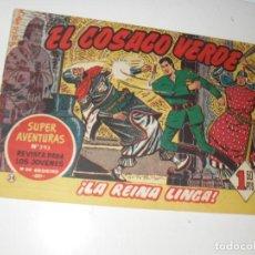 Tebeos: EL COSACO VERDE 38.ORIGINAL,EDITORIAL BRUGUERA,AÑO 1960.. Lote 287986908