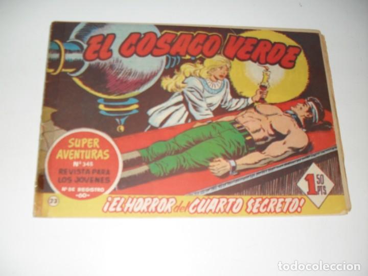 EL COSACO VERDE 23 7 27,ESTAN PEGADOS.ORIGINAL,EDITORIAL BRUGUERA,AÑO 1960. (Tebeos y Comics - Bruguera - Cosaco Verde)