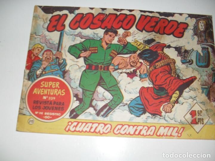 EL COSACO VERDE 20.ORIGINAL,EDITORIAL BRUGUERA,AÑO 1960. (Tebeos y Comics - Bruguera - Cosaco Verde)