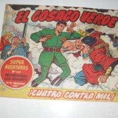 Tebeos: EL COSACO VERDE 20.ORIGINAL,EDITORIAL BRUGUERA,AÑO 1960.. Lote 287987993