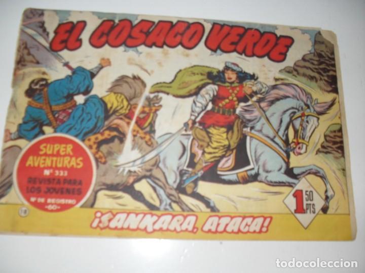 EL COSACO VERDE 18.ORIGINAL,EDITORIAL BRUGUERA,AÑO 1960. (Tebeos y Comics - Bruguera - Cosaco Verde)