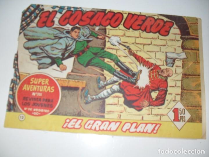 EL COSACO VERDE 12.ORIGINAL,EDITORIAL BRUGUERA,AÑO 1960. (Tebeos y Comics - Bruguera - Cosaco Verde)