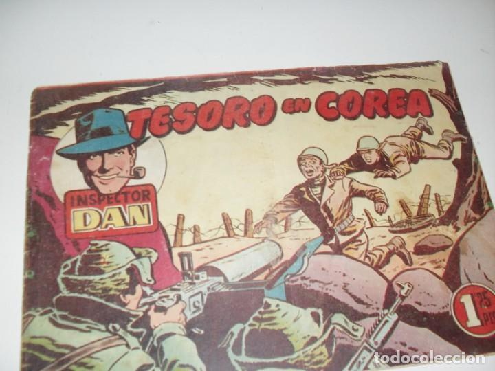 EL INSPECTOR DAN:TESORO EN COREA.ORIGINAL.EDITORIAL BRUGUERA,AÑO 1951. (Tebeos y Comics - Bruguera - Inspector Dan)