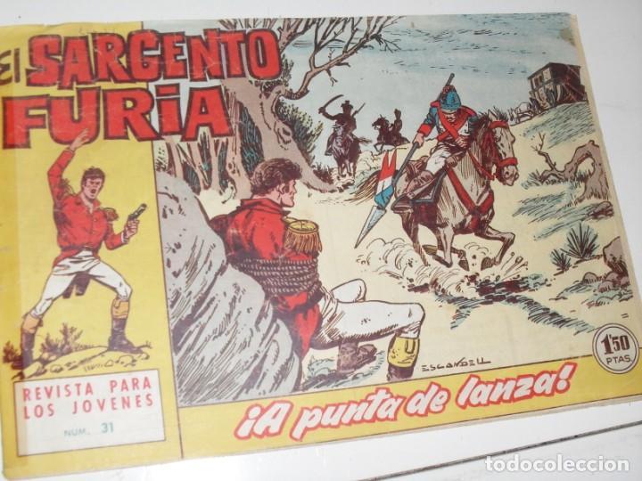 EL SARGENTO FURIA 31(DE 36).EDITORIAL BRUGUERA,AÑO 1962. (Tebeos y Comics - Bruguera - Cuadernillos Varios)