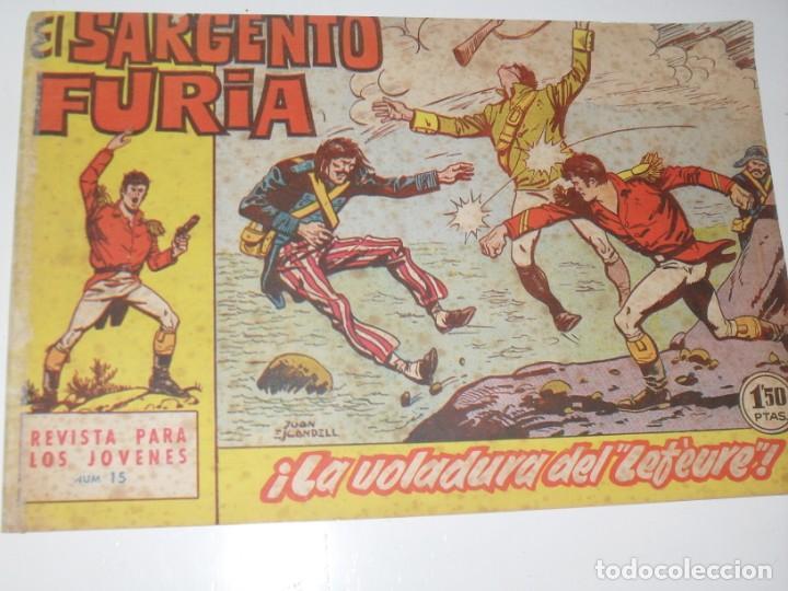 EL SARGENTO FURIA 15(DE 36).EDITORIAL BRUGUERA,AÑO 1962. (Tebeos y Comics - Bruguera - Cuadernillos Varios)
