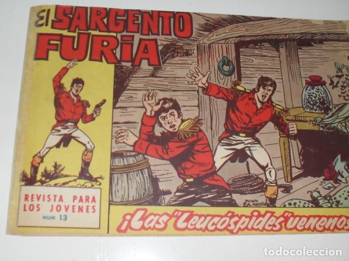 EL SARGENTO FURIA 13(DE 36).EDITORIAL BRUGUERA,AÑO 1962. (Tebeos y Comics - Bruguera - Cuadernillos Varios)